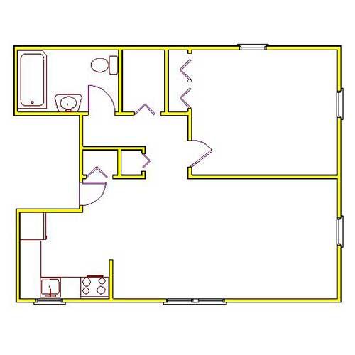 northside manor one bedroom floor plan